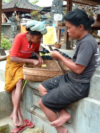 Dans un enclos familial, prè€s d'Ubud.