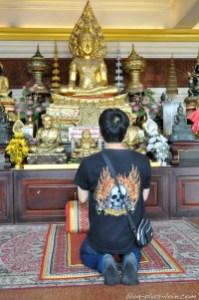 Mont d'or, à Bangkok. Thaïlande.