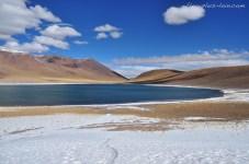 las lagunas Miscanti y Miñiques. Chile.