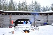Randonnée en raquettes en Finlande.