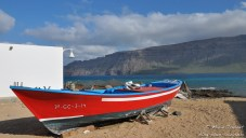 Dans le village sur l'île de la Graciosa, à Lanzarote (Canaries).