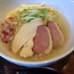酒田「煌琳」蛤出汁鶏塩冷やしラーメン