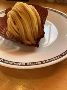 コメダ珈琲の安納芋モンブランの写真