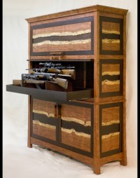 The Bubinga and Wenge Gun Safe Cabinet by Corlis Woodworks ...