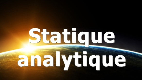 Formation – Statique analytique