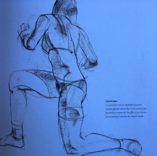 Croquis tiré du livre Le dessin d'après modèle vivant, Robert Barrett