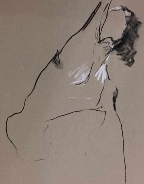 dessin Danielle Julien artiste en arts visuels modele Marie G