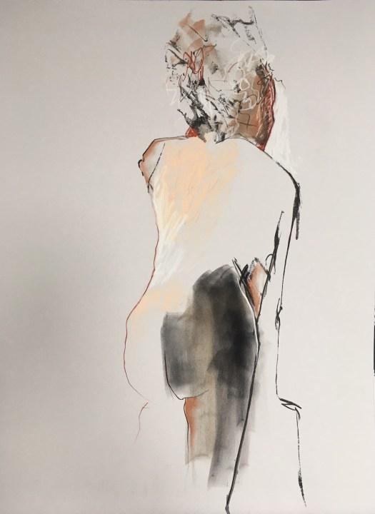 dessin Danielle Julien artiste arts visuels modèle Marie G