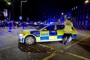 Métro Londonien - Intervention de la police
