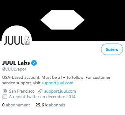 Juul's Twitter account followed by countless minors - Blog Vape