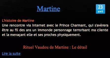 Temoignage Nathaniel Sorcier Vaudou Martine