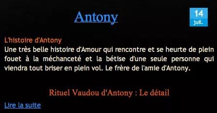 Témoignage Antony Nathaniel Sorcier Vaudou