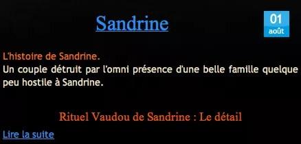 Cliquez et Découvrez le Témoignage de Sandrine