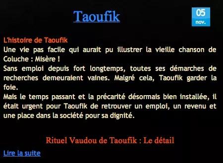 Cliquez Pour Découvrir le Témoignage de Taoufik