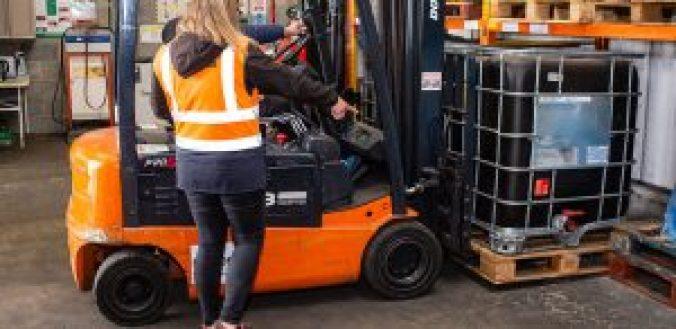 Forklift Operator Getting Training - Banner