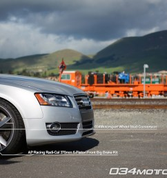 tuned b8 audi a5 2 0 tfsi featuring ap racing big brake upgrade 034motorsport wheel stud [ 1200 x 797 Pixel ]
