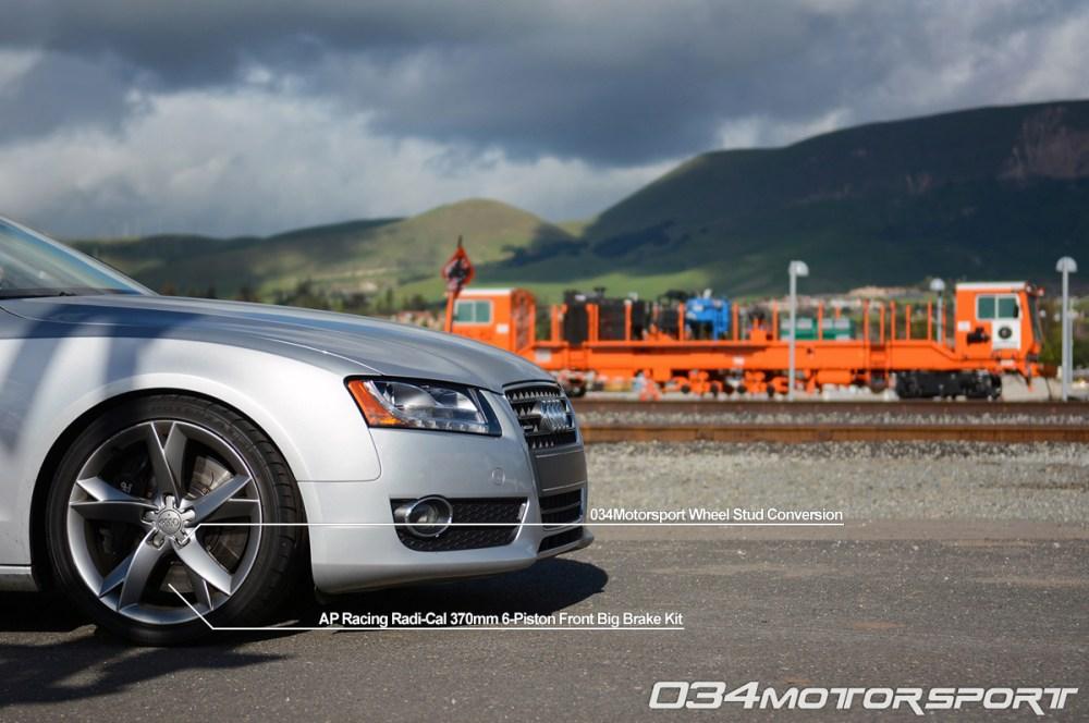 medium resolution of tuned b8 audi a5 2 0 tfsi featuring ap racing big brake upgrade 034motorsport wheel stud
