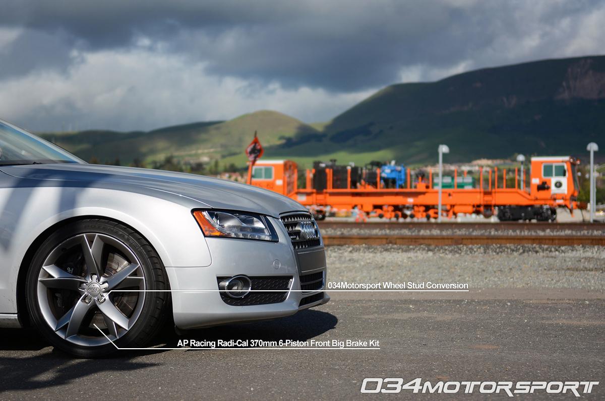 hight resolution of tuned b8 audi a5 2 0 tfsi featuring ap racing big brake upgrade 034motorsport wheel stud