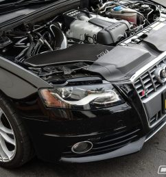 stage 2 b8 audi s4 with carbon fiber cold air intake [ 1200 x 800 Pixel ]