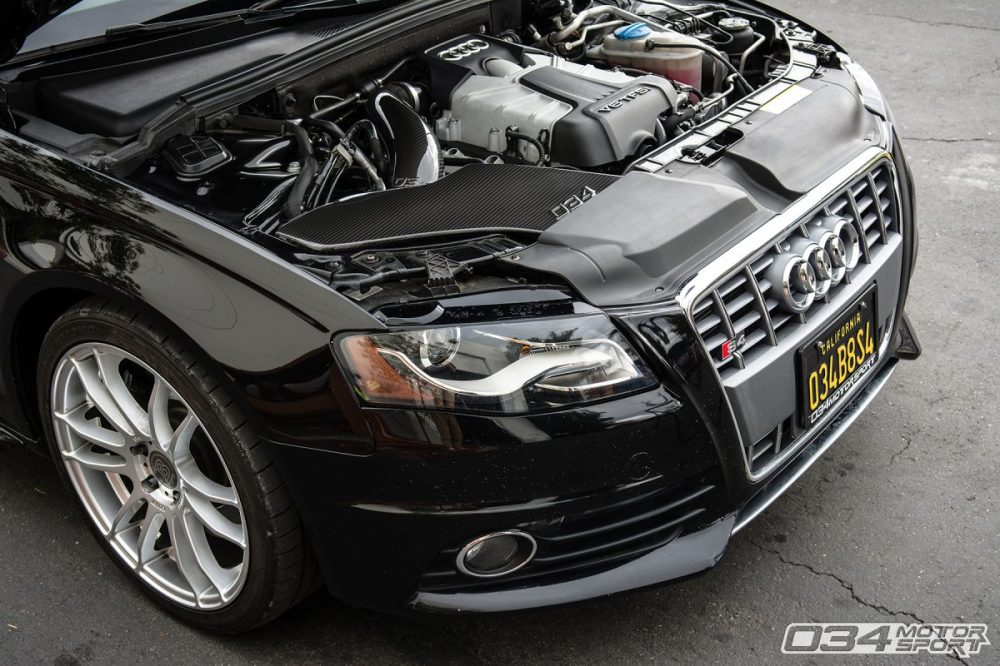 medium resolution of stage 2 b8 audi s4 with carbon fiber cold air intake