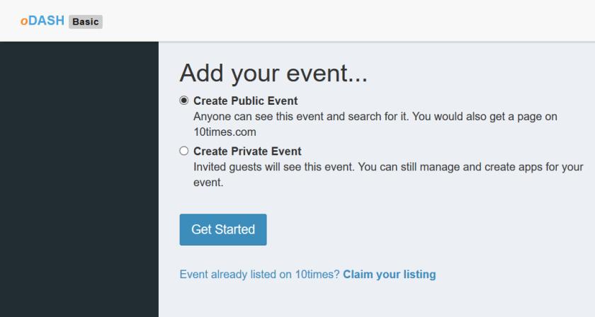 Add Event on oDASH