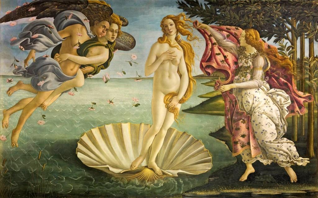 7 dias pela Itália. O Nascimento de Vênus, de Botticelli.