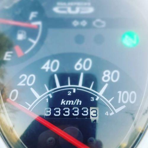 33333.3km、まだまだ乗れる! #スーパーカブ #ja07 #ゾロ目 #キリ番