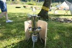 登山用ウッドテーブルと木製風防の新商品。プロトタイプが完成!