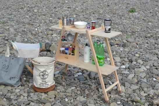 木製 キャンプ用品 キャンプ道具 196 ラック