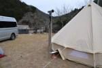 「薪ストーブ」とキャンプへ!新保製作所 角型窓付ガード付を実践投入!!