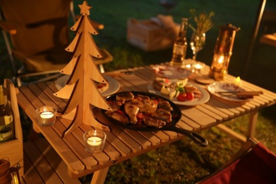キャンプ クリスマス 卓上クリスマスツリー X'masキャンプ 聖夜 サンタ