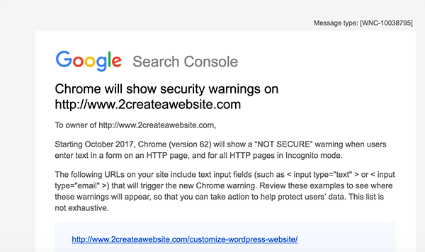 Chrome SSL Security Warning