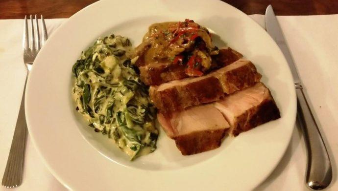 Pork Spinach Shiitake