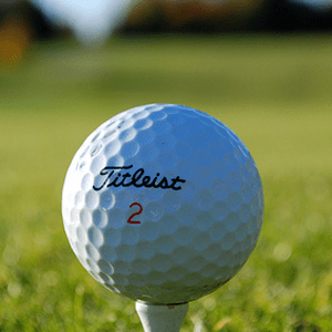 Titleist golf ball at green
