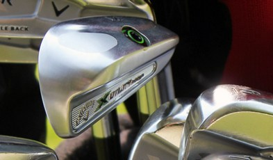 group of callaway razr golf clubs