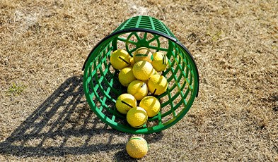 Basket of Golf Balls