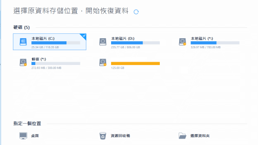 強大且易用的資料救援軟件:EaseUS Data Recovery Wizard Professional 1