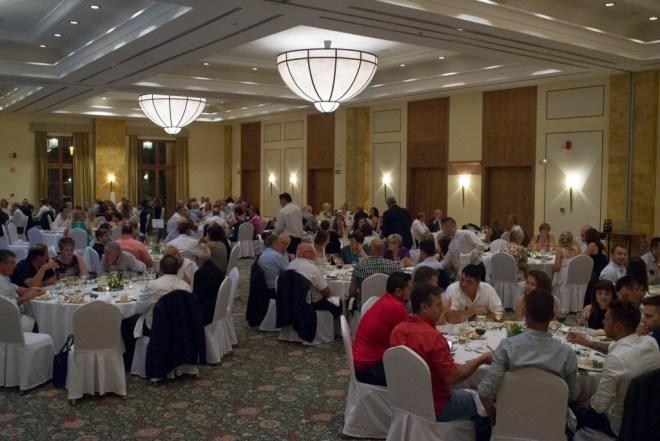 Salón Marriot durante la celebración del xx aniversario de seguros ginestar - organización de eventos