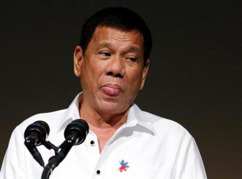 26日に東京都内で開催された「フィリピン経済フォーラム」に出席したフィリピンのドゥテルテ大統領(ロイター)
