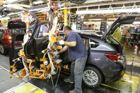 富士重工業の米国拠点「SIA」で生産される「インプレッサ」