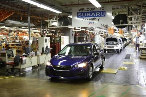 富士重工業の米国拠点で生産される「インプレッサ」