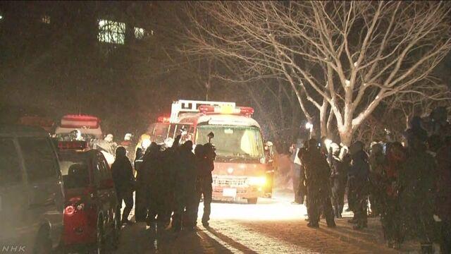 雪崩に巻き込まれた高校生ら8人の死亡確認