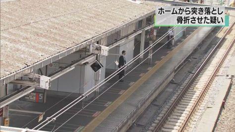 上野駅で線路に突き落とし 傷害容疑で男を逮捕