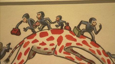 「おさるのジョージ」原画など集めた展覧会 東京 銀座