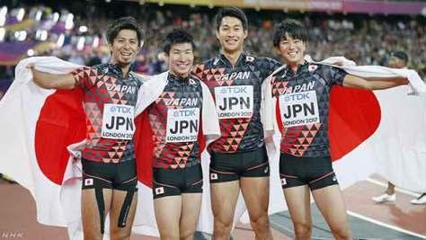 陸上世界選手権 男子400mリレー 日本が銅メダル獲得