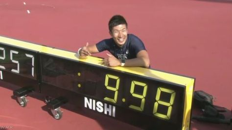 陸上男子100m 桐生が日本選手初の9秒台