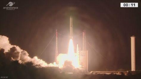 4K・8K放送対応「BSATー4a」衛星打ち上げ