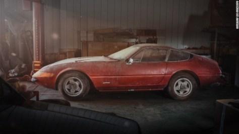 1969年製の極めて希少なフェラーリ・デイトナは約40年間日本の納屋にあった=RM SOTHERBY'S提供