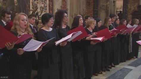 バチカンの聖歌隊 復興支援ソング「花は咲く」を日本語で合唱