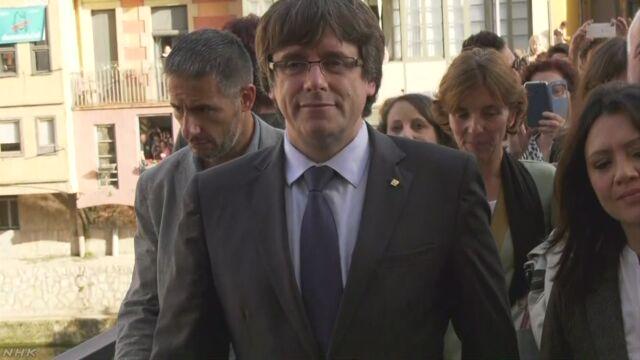 カタルーニャ 前州首相国家反逆容疑で捜査へ スペイン | NHKニュース